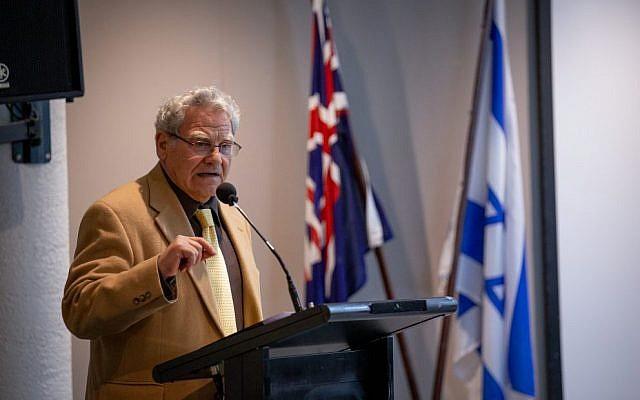Efraim Inbar speaking in Melbourne on Sunday.