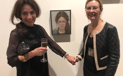 Artist Karyn Zamel (left) and Vaucluse MP Gabrielle Upton.
