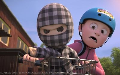 Animated action in the Danish hit, Checkered Ninja.