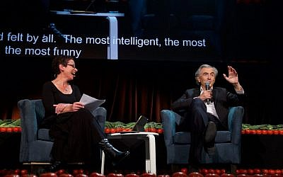 Dr Avril Alba and Bernard-Henri Levy. Photos: Giselle Haber