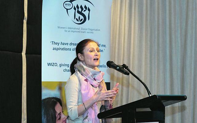 Rolene Marks addresses the WIZO Victoria event. Photo: Ren Rizzolo