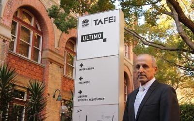 NSW Jewish Board of Deputies CEO Vic Alhadeff outside TAFE's Ultimo campus. Photo: Shane Desiatnik