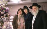 Rebbetzin Shternie Ulman (centre) with Rabbi Yisroel Goldstein and sister Leah Perl.
