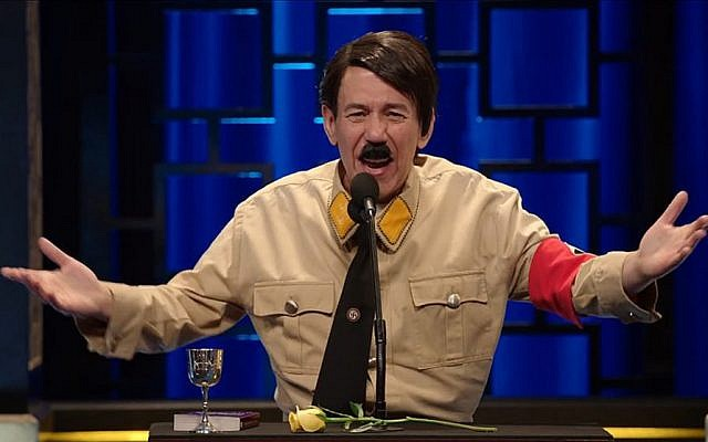 Comedian Gilbert Gottfried plays Adolf Hitler in Historical Roasts.