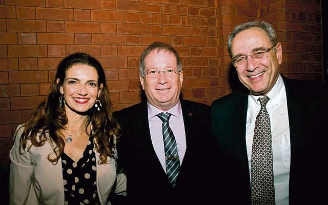 At the launch, from left, Australian Friends of Rambam executive director Vered Harel, Rambam CEO Dr Miki Halberthal, and Israeli ambassador Mark Sofer. Photo: Michael Silver.