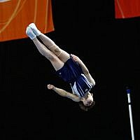 30-5-19. Australian Gymnastics Championships. Melbourne Arena. James Mann-Segal. Boys Youth U 13 Trampoline. Photo: Peter Haskin