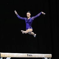 23-5-19. Australian Gymnastics  Championships, Melbourne. Women's Artistic. Jaymi Aronowitz from NSW. Beam. Photo: Peter Haskin