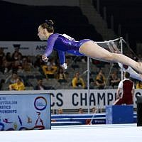 23-5-19. Australian Gymnastics  Championships, Melbourne. Women's Artistic. Jaymi Aronowitz from NSW. Floor. Photo: Peter Haskin