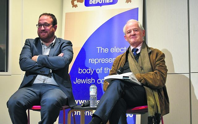 Rabbi Shua Solomon (left) and Philip Ruddock.