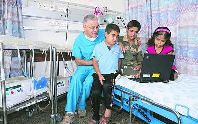 Young patients at Rambam hospital.