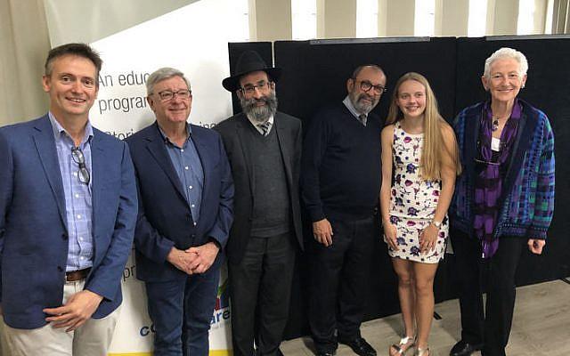From left: Scott McDougall, Paul Myers, Rabbi Nir Gurevitch, David Rebibou, Kaitlin Barwick and Kayla Szumer.