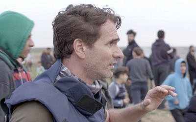 Todd Sampson while filming in Gaza. Photo:  Network Ten