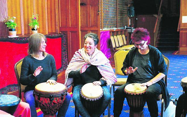 "The ""Unleash your rhythm"" workshop at She'ela 2016. Photo: Peter Haskin"