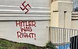 Antisemitic graffiti in the Melbourne suburb of Ashburton.
