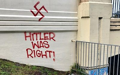 Antisemitic graffiti in the Melbourne suburb of Ashwood.