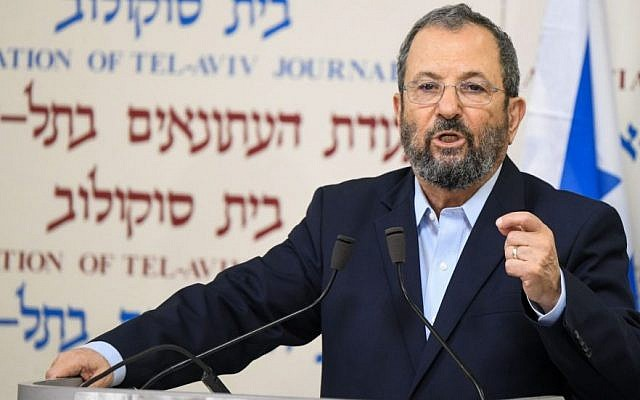 Ehud Barak announcing the establishment of his new political party. Photo: JTA/Flash 90