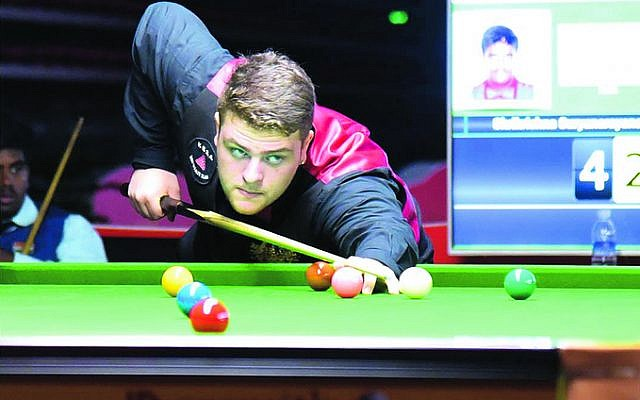 Marc Fridman takes a shot at the 2019 IBSF U21 Snooker World Championships in China. Photo: IBSF