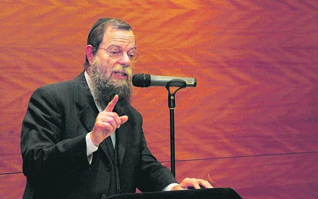 Rabbi Yossy Goldman at Sydney's Central Synagogue. Photo: Shane Desiatnik