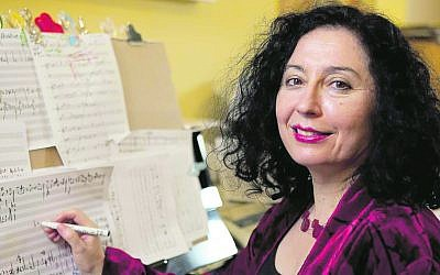 """Composing at the piano is where Elena Kats-Chernin feels at home. """"I am joined at the hip with my music paper and my piano ... It's somehow my place."""""""