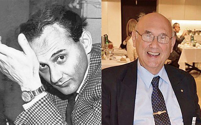 Professor Tony Klein in 1969 (left) and today.