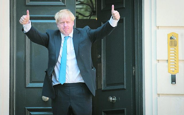 Boris Johnson after it was announced that he would become the next British Prime Minister. Photo: Stefan Rousseau/PA Wire