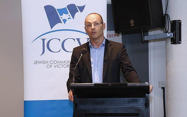 Anton Hermann speaking at a JCCV plenum earlier this year. Photo: Peter Haskin