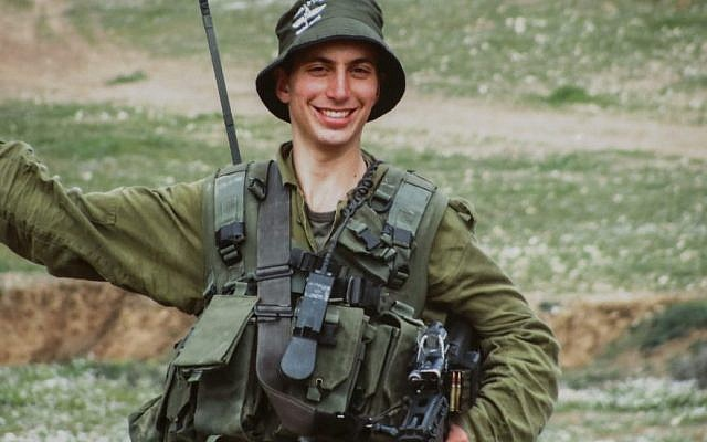 Israeli Lt. Hadar Goldin on army duty. His parents have waged a years-long campaign to bring back the remains of their son from Gaza. (AFP/Getty Images)
