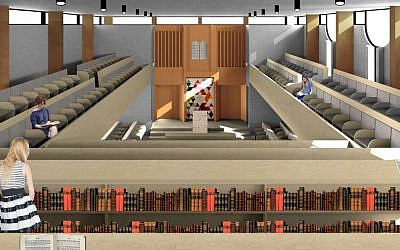 An artist's impression of what the Mizrachi Bondi sanctuary will look like from upstairs.