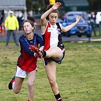 2-8-19. AJAX Jackettes defeated Parkdale Vultures 3.1-19 to 1.1-7 in the 1st semi final of the VAFA Women's Division 4 at Gary Smorgon Oval. Photo: Peter Haskin