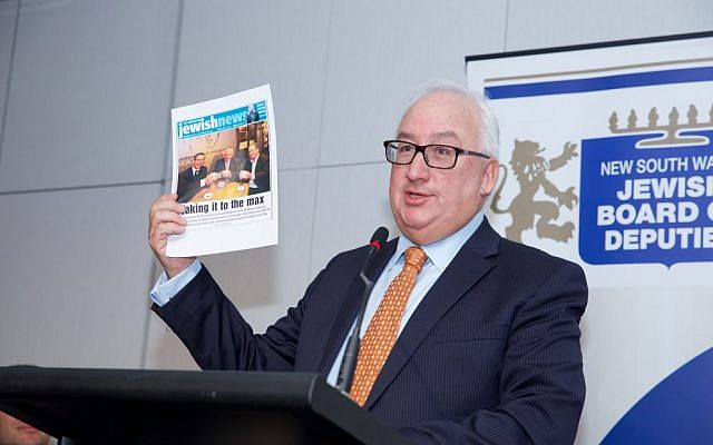 Michael Danby speaking at Tuesday's JBOD AGM. Photo: Giselle Haber
