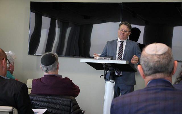 John Lehmann, speaking at the Rambam Program luncheon. Photo: Shane Desiatnik