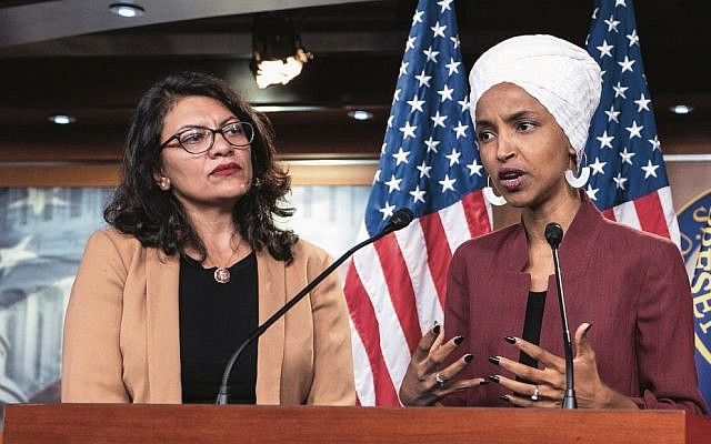 Ilhan Omar (right) and Rashida Tlaib. Photo: EPA/Jim Lo Scalzo