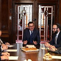Daniel Andrews meeting with members of the RCV.
