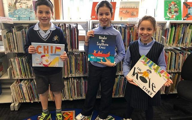 Max Steinhardt, Sierra Mimeran and Kaelee Hope enjoying Book Week at Fink Karp Ivany campus.