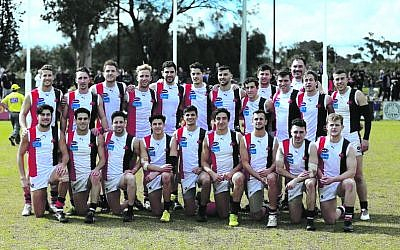 The Jackas team on VAFA Men's Premier C grand final day at Trevor Barker Oval on Sunday, September 22.