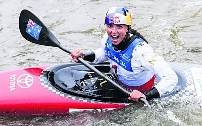 Jessica Fox after winning the women's K1 final in Prague last weekend. Photo: Paddle Australia