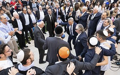 Celebrations at Central Synagogue's official opening of its Paul and Eva Lederer Youth Campus and Art Garden. Photo: Nadine Saacks Photography