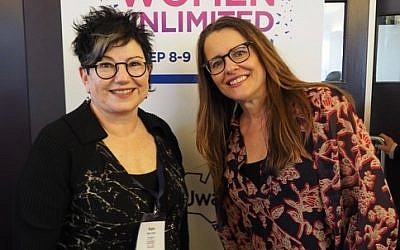 Negba Weiss-Dolev (left) with Melinda Tankard-Reist at the NCJWA conference.