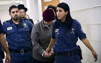 Malka Leifer being led to court in February 2018. Photo: EPA/Stringer