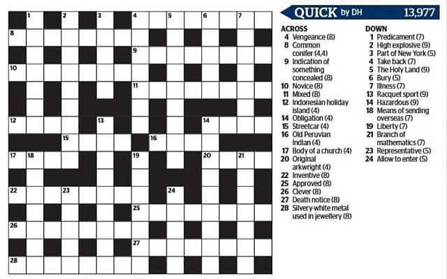 The controversial crossword.