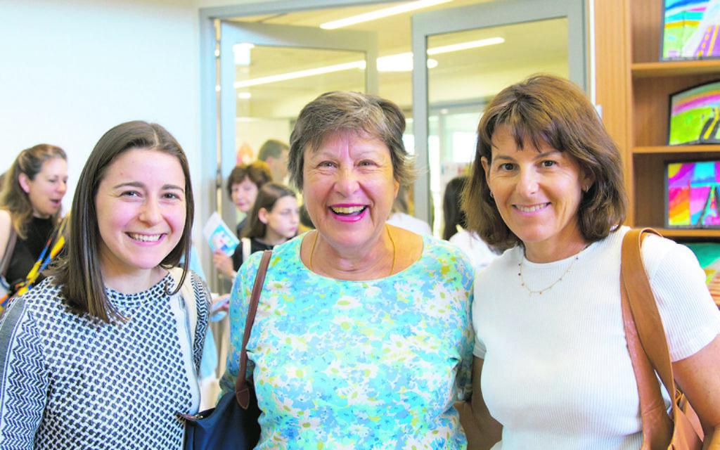 From left: Tess Rosenberg, Sue Cassrels, Julie Rosenberg.