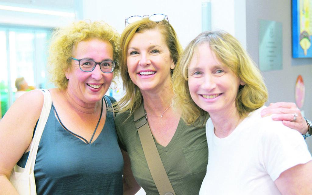 From left: Michelle Ben David, Linda Martin, Debbie Rutstein.