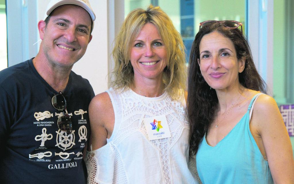 From left: Adam Kovkin, Nicole Katz, Janine Kovkin.
