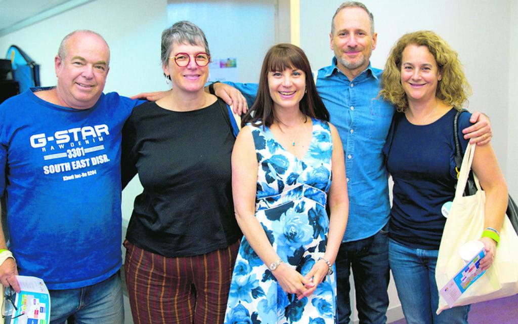 From left: Natan Rutstein, Jaki Singer, Brenda Rosenfeld, Anthony and Helen Epstein.