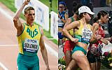 Steven Solomon (left) and Jemima Montag. Photos: Athletics Australia