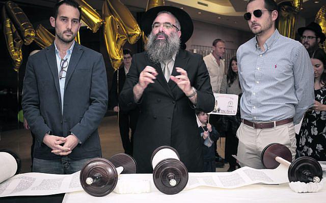 From left: Daniel Hendler, Rabbi Dr Dovid Slavin, Ariel Hendler.