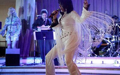Jacqueline Feilich channelling Elvis Presley.