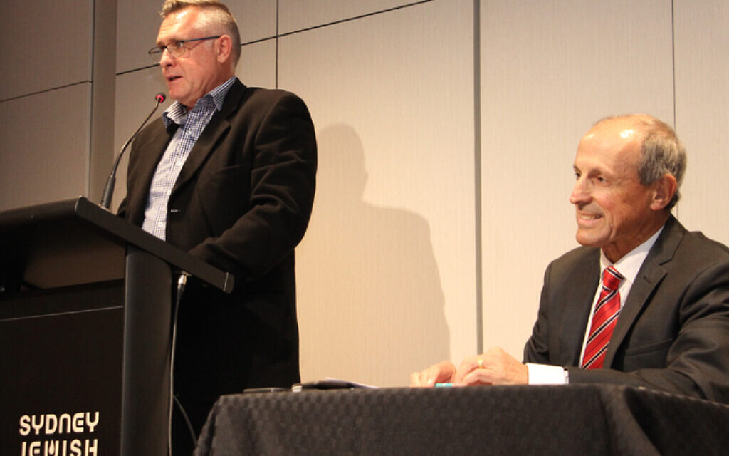 Daily Telegraph day editor Brad Clifton (left), JBOD CEO Vic Alhadeff.