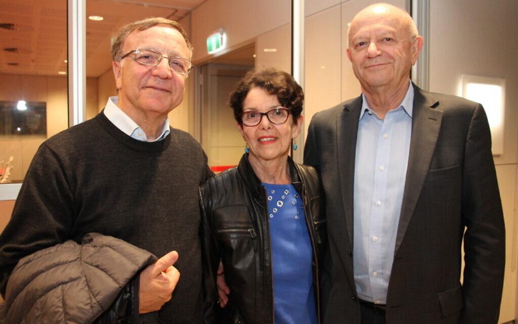 From left: Cesare Di Veroli, Sue Selinger, Jake Selinger.