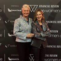 Kerryn Phelps (left) with wife Jackie Stricker-Phelps at the awards.